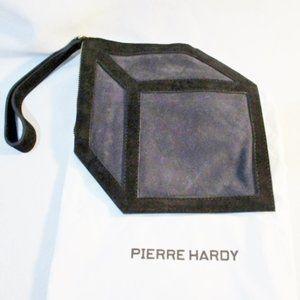 NEW PIERRE HARDY Suede CUBE Clutch Wristlet
